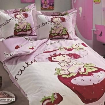 Постельное белье ARYA сатин Strawberry Baby