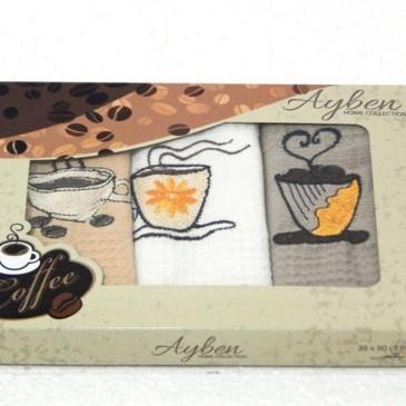 Салфетки Ayben кофе 30*50