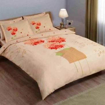 884279dd466c Купить комплект постельного белья Tac Satin Pretty brown евро, Турция