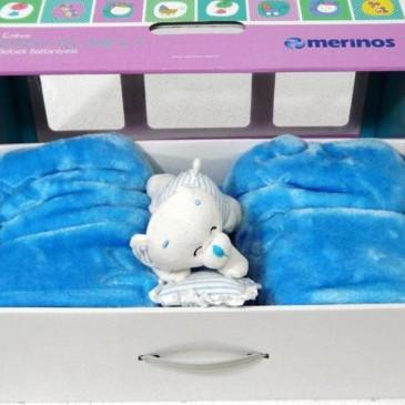 Плед Merinos акриловый детский с игрушкой