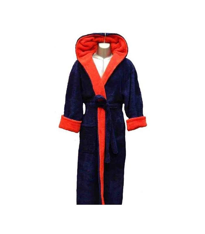 Terry microfiber bathrobe for men