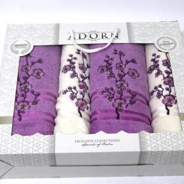 Набор полотенец Adorn четверка (2 лицевых + 2 банных)