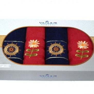 Набор полотенец Yagmur четверка (2 банных + 2 лицевых)