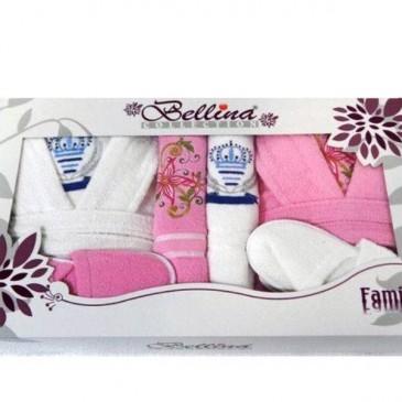 Набор Bellina bukle 2 халата + 4 полотенца + тапочки