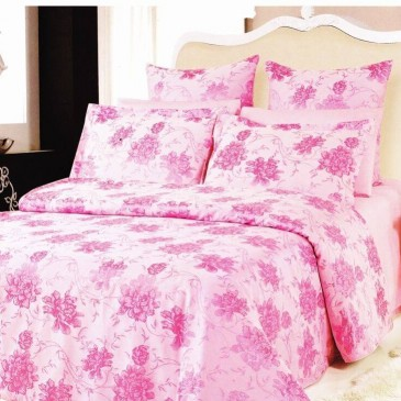 Комплект постельного белья ARYA жаккард Beatrice Pink