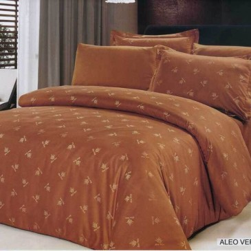Комплект постельного белья ARYA жаккард Aloe Vera Coffee