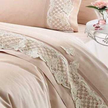 Комплект постельного белья Gelin Home KELEBEK BEJ
