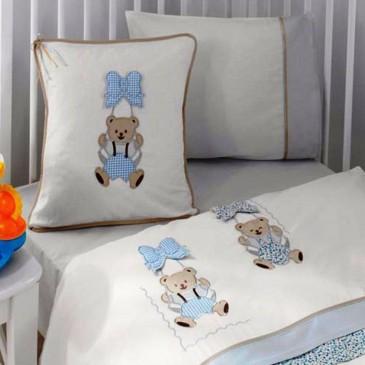 Комплект постельного белья Gelin Home ORGU + вязаный плед