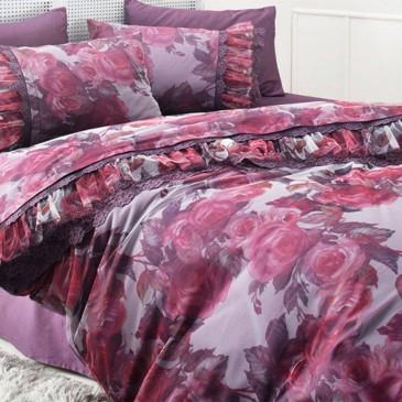 Комплект постельного белья Gelin Home EBRU + покрывало