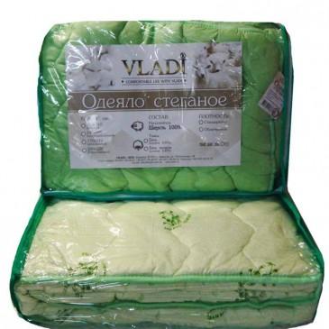 Одеяло Vladi стеганое чистая шерсть облегченное