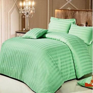 Комплект постельного белья Love You страйп зеленый