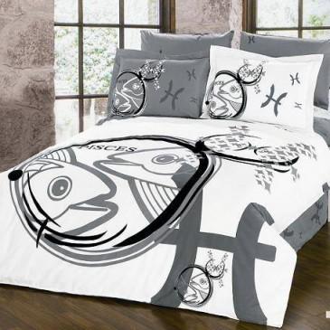 Комплект постельного белья ARYA сатин PISCES-Рыбы