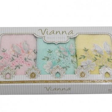Салфетки махровые 3D Vianna 30х50 3 штуки