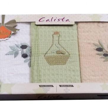 Салфетки Calista вафельные 3 штуки