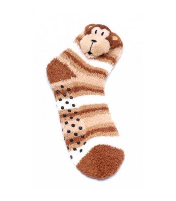 7b9cd72a572f8 FLUFFY ANIMALS Теплые, мягкие детские носки с апликацией зверей с системой  АБС ( ПРОТИВОСКОЛЬЗЯЩИЕ)