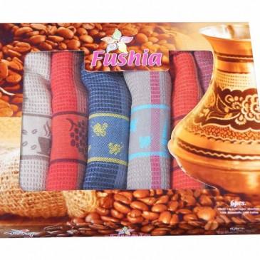 Салфетки вафельные Fushia 45x65 6 штук