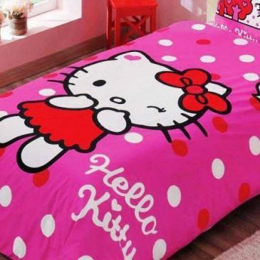 Постельное белье TAC DISNEY Hello Kitty Pink