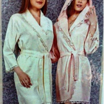 Халат женский с капюшоном Tivolyo Home MASAL кремовый