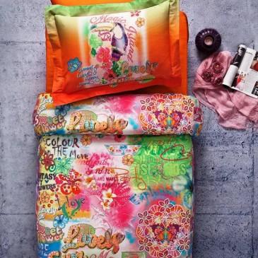 Комплект постельного белья Tivolyo Home MAGIC оранжевый