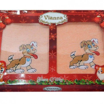 Набор полотенец Vianna Dogs 2шт. (с+л) 30*50/50*90