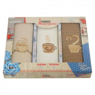Салфетки Paris Bonjorno вафельные 40*60 3 штуки