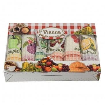 Салфетки Vianna вафельные 35*50 6 штук