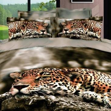"""Комплект постельного белья Bella Dona сатин """"Леопард"""" B 0040"""