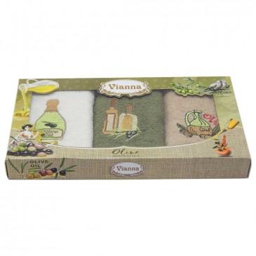 Салфетки махровые Vianna (оливки) 30х50 3 штуки