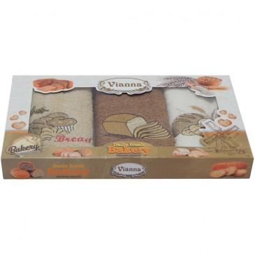 Салфетки махровые Vianna (кофе) 30*50 3 штуки