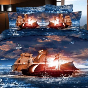 Комплект постельного белья Bella Dona сатин 3D B 0060
