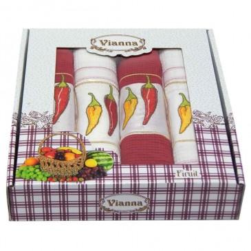 Салфетки Vianna Premium 45*65 4 штуки вафельные
