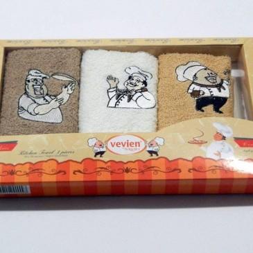Набор салфеток Vevien 30*50 в коробке 3 штуки