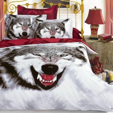 Комплект постельного белья ARYA сатин Siberıan Wolf