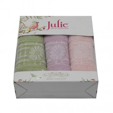 Салфетки махровые Julie 30*50 3 штуки
