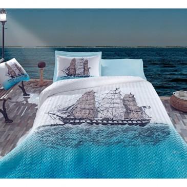 Постельное белье со стеганым пододеяльником Cotton Box Maritime Ship