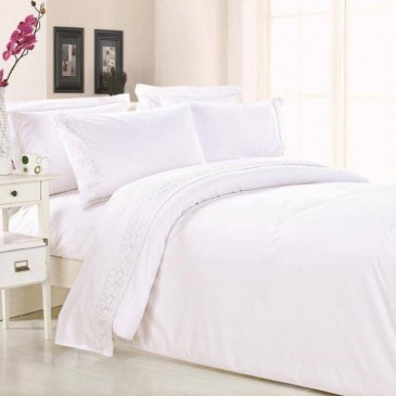Комплект постельного белья TF B 0025 N сатин с кружевом