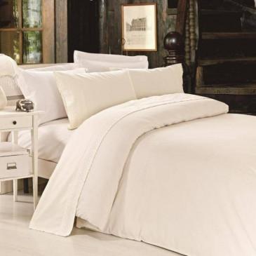 Комплект постельного белья сатин с кружевом, TF B 0021 N