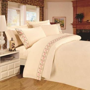 Комплект постельного белья сатин с кружевом, TF B 0015 N