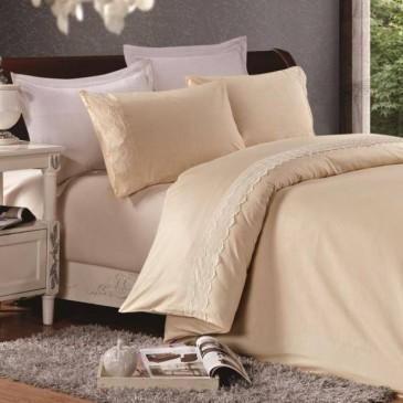Комплект постельного белья сатин с кружевом, TF B 0014 N