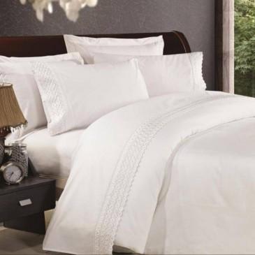 Комплект постельного белья сатин с кружевом, TF B 0024 N