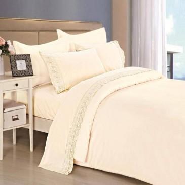Комплект постельного белья сатин с кружевом, TF B 0012 N