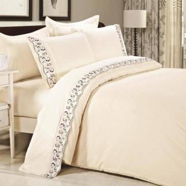 Комплект постельного белья сатин с кружевом, TF B 0008 N