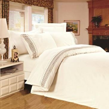 Комплект постельного белья Сатин с кружевом, TF B 0004