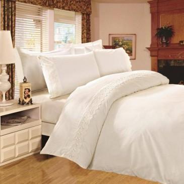 Комплект постельного белья Сатин с кружевом, TF B 0002