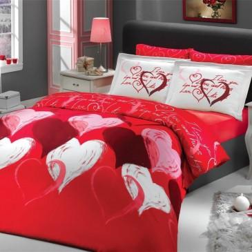 Комплект постельного белья HOBBY сатин I love you