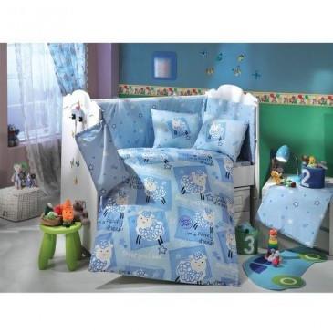 Комплект постельного белья HOBBY ранфорс Little Ship 10 предметов