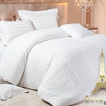 Комплект постельного белья Love you страйп белый