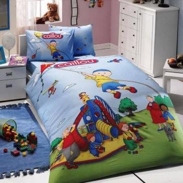 Комплект постельного белья HOBBY ранфорс Caillou Blue