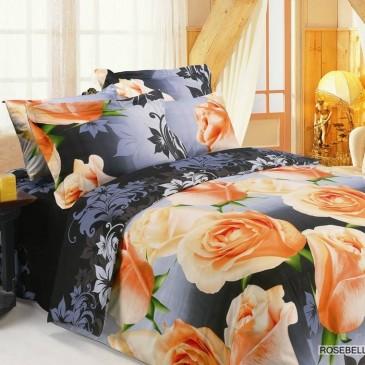 Комплект постельного белья ARYA Сатин Rosebella Black