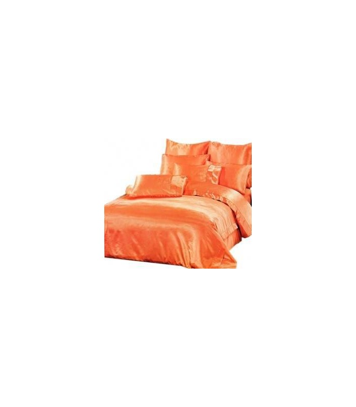 Комплект постельного белья ARYA Шелк Однотонный Somon - персик